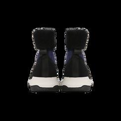 Sneakers nero-blu sock boots con suola in gomma bianca, Primadonna, 124109763TSNEBL035, 003 preview