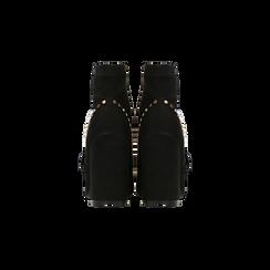 Tronchetti neri maxi-fibbia, tacco 10,5 cm, Primadonna, 122168092MFNERO037, 003 preview