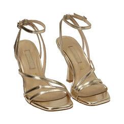 Sandali oro laminato, tacco 9,5 cm , Primadonna, 172183653LMOROG035, 002 preview