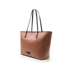 Maxi-bag cuoio in eco-pelle con manici neri, Borse, 133783134EPCUOIUNI, 004 preview