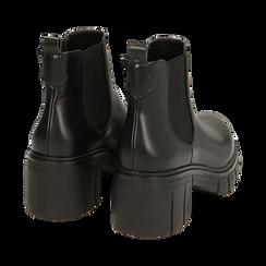 Chelsea boots neri, tacco 5 cm , Primadonna, 160621171EPNERO038, 004 preview