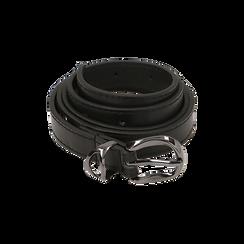 Cintura nera in eco-pelle, Abbigliamento, 144092449EPNEROUNI, 001 preview