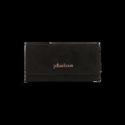 Portefeuille noir en microfibre, IDEE REGALO, 165131611MFNEROUNI, 001 preview