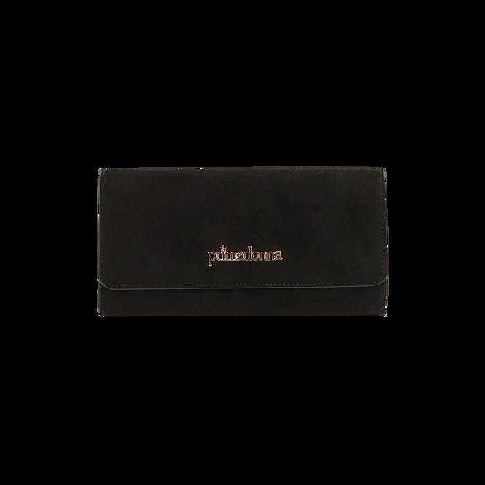 Portefeuille noir en microfibre, IDEE REGALO, 165131611MFNEROUNI