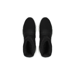 Sneakers nero-rosse sock boots con suola in gomma bianca, Primadonna, 124109763TSNERS036, 004 preview