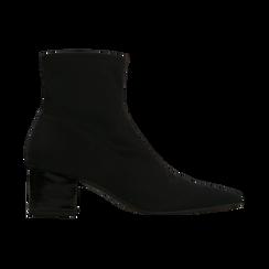 Tronchetti calzino neri, tacco 4 cm, Scarpe, 124895551LYNERO, 001 preview