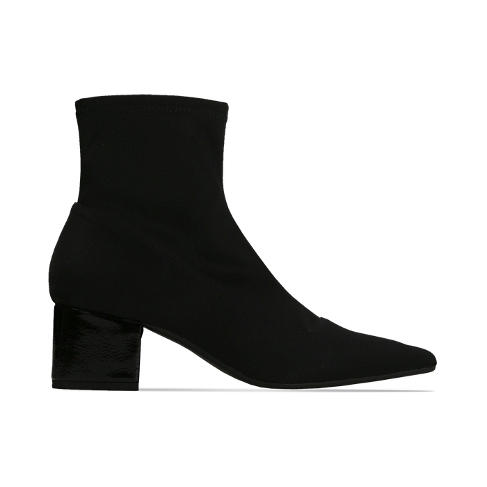 Tronchetti calzino neri, tacco 4 cm, Scarpe, 124895551LYNERO
