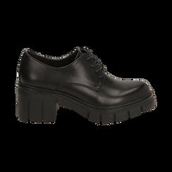 Stringate nere, tacco 5 cm  , Promozioni, 160621175EPNERO037, 001 preview