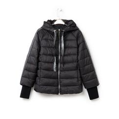 Piumino nero in nylon, Abbigliamento, 146501163NYNERO3XL, 003 preview