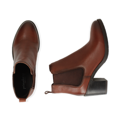 Ankle boots cuir, talon 4,50 cm, Primadonna, 169495750PECUOI035, 003 preview