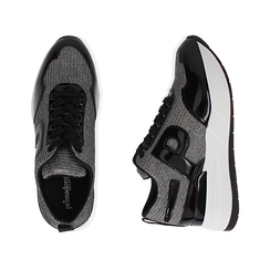 Sneakers canna di fucile glitter, suola 5,50 cm , Scarpe, 142898982GLCANN035, 003 preview