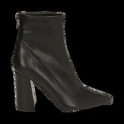 Ankle boots neri, tacco 9 cm , Primadonna, 164823107EPNERO037, 001a