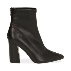 Ankle boots neri, tacco 9 cm , 164823107EPNERO036, 001a