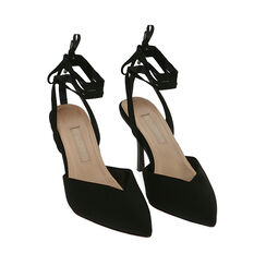 Sandalias negras, tacón 10 cm, Primadonna, 172106281LYNERO036, 002a