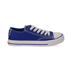 Sneakers blu in canvas, Scarpe, 137300862CABLUE036, 001 preview