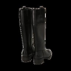 Stivali flat neri, tacco 4 cm , Primadonna, 160621686EPNERO035, 003 preview