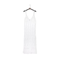 Mini-dress bianco con lavorazione macramè, Primadonna, 13A345074TSBIANUNI, 001a
