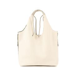 Shopper blanc en simili-cuir, Sacs, 155702557EPBIANUNI, 003 preview