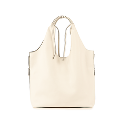 Shopper bianca, Borse, 155702557EPBIANUNI, 003 preview