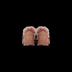 Sneakers rosa nude slip-on con dettagli faux-fur e borchie, Scarpe, 129300023MFNUDE, 003 preview