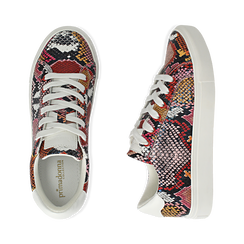 Sneakers nero/rosse stampa pitone, Scarpe, 152607101PTNERS, 003 preview