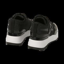 Sneakers nere glitter, suola 5,50 cm , Scarpe, 142898982GLNERO035, 004 preview