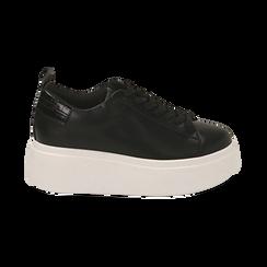 Sneakers nere, zeppa 6,50 cm, Primadonna, 167505101EPNERO037, 001 preview