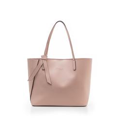 Shopping bag rosa in eco-pelle con fiocco decor, Borse, 133782945EPROSAUNI, 001a