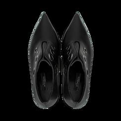 Tronchetti neri con oblò metallo, tacco 7 cm, Primadonna, 128405082EPNERO, 004 preview