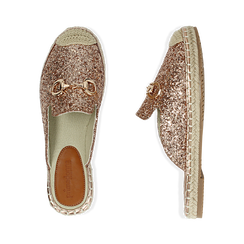 Slippers oro rosa glitter, Chaussures, 154951159GLRAOR036, 003 preview
