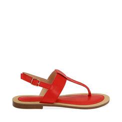 Sandalias de dedo rojas, 174957188EPROSS036, 001a