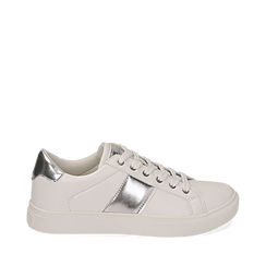 Sneakers de ecopiel en color blanco, 152619072EPBIAN035, 001a