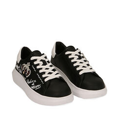 Sneakers negras con estampado cartoon, Primadonna, 172621011EPNERO035, 002a