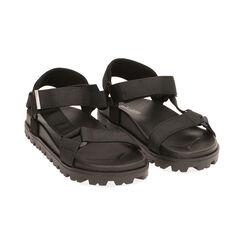 Sandales de plage en tissu noir, Primadonna, 170910057TSNERO035, 002 preview