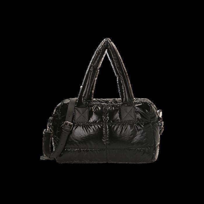 Sac noir duvet en tissu, Primadonna, 165122146TSNEROUNI