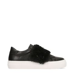 Sneakers nere Slip-on con dettagli faux-fur e borchie, Primadonna, 126103025EPNERO035, 001a