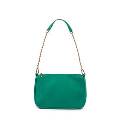 Petit sac porté épaule vert en microfibre, Primadonna, 155127201MFVERDUNI, 001a