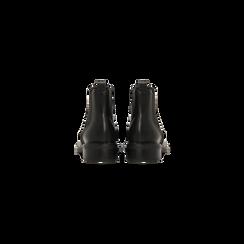 Chelsea Boots neri, lavorazione Duilio, Scarpe, 120618206EPNERO040, 003 preview