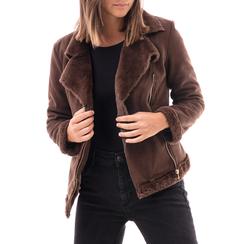 Giacca marrone in microfibra, Abbigliamento, 146500413MFMARR3XL, 001 preview