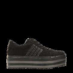 Sneakers nere suola platform multistrato, Primadonna, 122818575MFNERO036, 001a