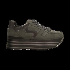 Sneakers grigie con maxi platform a righe, Scarpe, 122800321MFGRIG, 001 preview