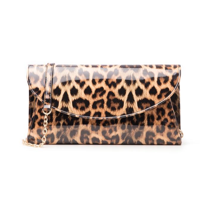 Pochette leopard in vernice, Borse, 145122502VELEOPUNI