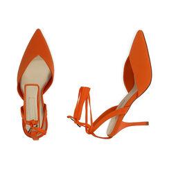 Slingback lace-up arancio in lycra, tacco 9 cm, Primadonna, 172106281LYARAN036, 003 preview