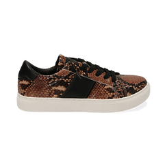 Sneakers marron imprimé python, Primadonna, 162619071PTMARR036, 001 preview