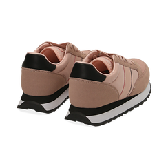Sneakers nude in tessuto tecnico, Primadonna, 162619079TSNUDE035, 004 preview
