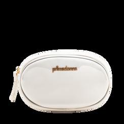 Marsupio in vernice bianco, 113309843VEBIANUNI, 001a