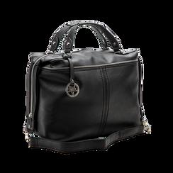 Maxi-bag nera in ecopelle, Primadonna, 122901475EPNEROUNI, 004 preview