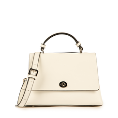 Mini bag en eco-piel color blanco, Bolsos, 155700372EPBIANUNI, 001a