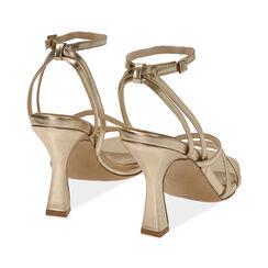 Sandali oro laminato, tacco 9,5 cm , Primadonna, 172183653LMOROG035, 004 preview