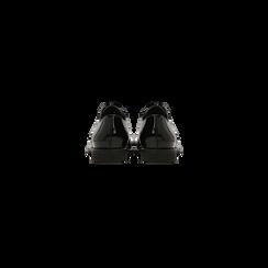 Stringate derby vernice nera tacco basso, Scarpe, 120618121VENERO, 003 preview